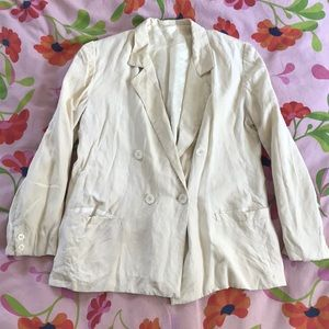 Cream silk blazer from the 40's